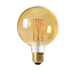 Pr Home Globlampa Led Elect Filament 95Mm 2,5W E27 Gold Dimbar