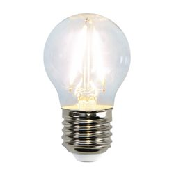 Star Trading Klotlampa Led 2W E27 Klar Filament 2700K 150Lm EJ DIMBAR