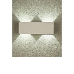 Aneta Belysning Twin Vägglampa Upp/Ned Vit Ip54