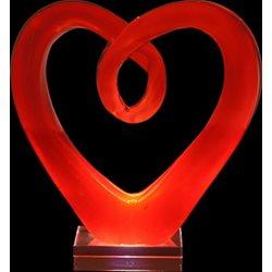 Rba Hjärta Röd 12,5Cm Konstglas