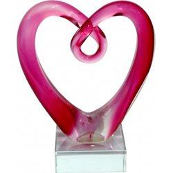 Rba Hjärta Rosa 12,5Cm Konstglas