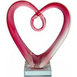 Rba Hjärta Rosa Större Konstglas