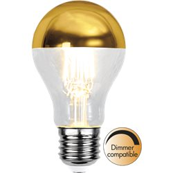 Star Trading Toppförspeglad Normallampa Led Guld 2700K E27 Dimbar