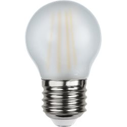 Star Trading Klotlampa Led 4W E27 Frostad Filament 2700K Dimbar