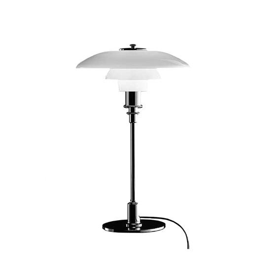 Louis Poulsen PH3/2 Bordslampa Glas/Svart Metalliserad