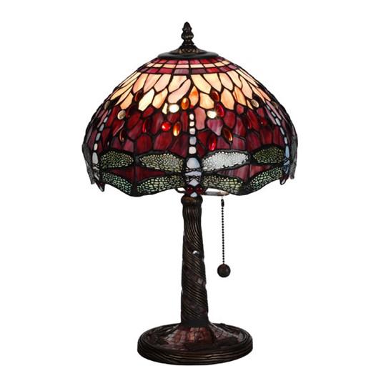 Nostalgia Design Trollslända Vin B03-30 Bordslampa Tiffany 30cm