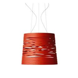 Foscarini Tress Pendel Stor Röd (Crimson) Halogen