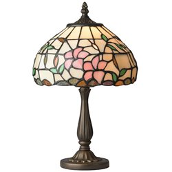 Nostalgia Design Hibiskus B08-20 Bordslampa Tiffany 20Cm
