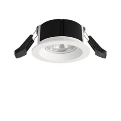 Maxel Hybrid liten downlight 6W Ø80 2700K Vit IP44