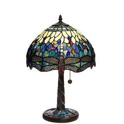 Nostalgia Design Trollslända Safirblå B06-30 Bordslampa Tiffany 30Cm