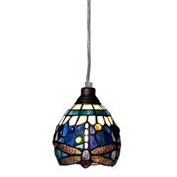 Nostalgia Design Trollslända T06-13 Fönsterlampa Tiffany 13Cm Safirblå