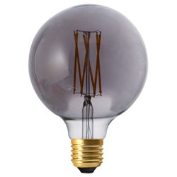 Pr Home Glob Led Filament 125Mm Dim Rökgrå 4W E27