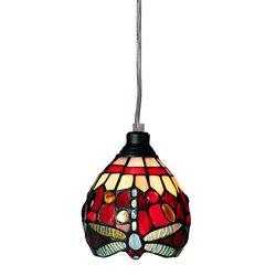 Nostalgia Design Trollslända T03-13 Fönsterlampa Tiffany 13Cm Vin