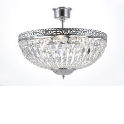 Norrsken Design Classic Kristallplafond Krom Mellan