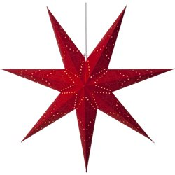 Star Trading Stjärna Sensy Röd 100Cm Inkl. Upphäng