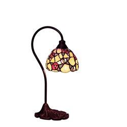 Nostalgia Design Vildros B83-13 Bordslampa Tiffany 13Cm Böjd Arm