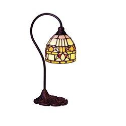 Nostalgia Design Fuchsia B99-12 Bordslampa Tiffany 12Cm Böjd Arm