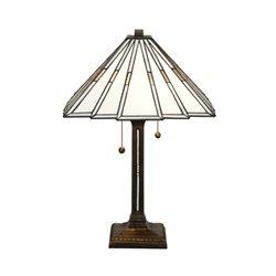 Nostalgia Design Prisma Vit Bordslampa Tiffany 40Cm