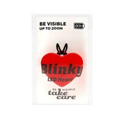 Save Lives Now Blinky Led Heart Red
