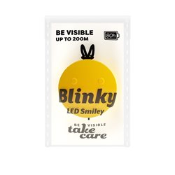 Save Lives Now Blinky Led Smiley Yellow