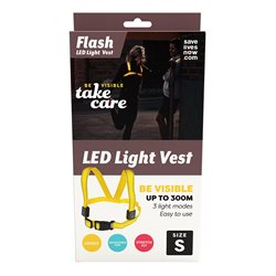 Save Lives Now Flash Led Light Vest Small Yellow