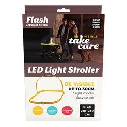 Save Lives Now Flash Led Light barnvagn 210-230 Cm Yellow