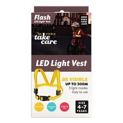 Save Lives Now Flash Led Light Vest 4-7 Yellow