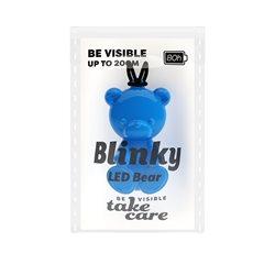 Save Lives Now Blinky Led Bear Blå