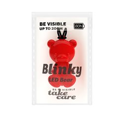 Save Lives Now Blinky Led Bear Röd