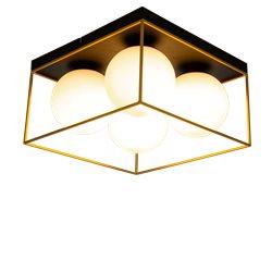 Scan Lamps ASTRO plafond stor, svart/guld/opal