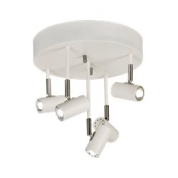 Scan Lamps GUSTO takspot, rak 5:a, vit/krom