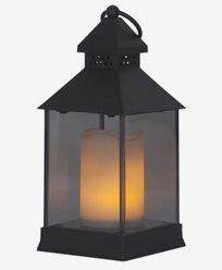 Star Trading LED Flame Lantern 6-pakke. Svart