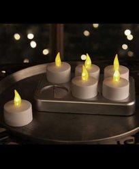 Star Trading Chrgeme Telys i LED hvita oppladbart LED 6-pakk