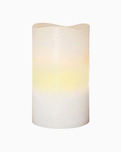 Star Trading Batteristyrt ljus Vit vax, vågig topp, marmor yta