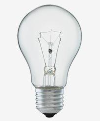 Normalformet glødepære klar glass E27 40W