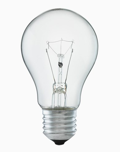Normalformad glödlampa klart glas E27 40W