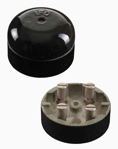 Ifö Kulodosa porselen svart firkantet 50mm