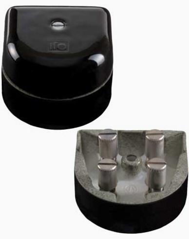 Ifö Kulodosa porslin svart klackformad 50X50mm