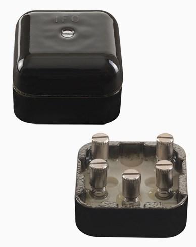 Ifö Kulodosa porslin fyrkantig svart 50mm