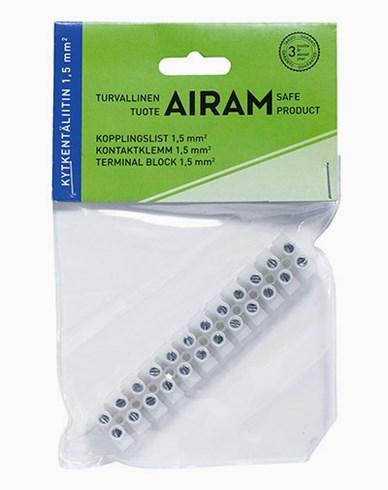 Airam kopplingslist 12 poler 1,5 mm²
