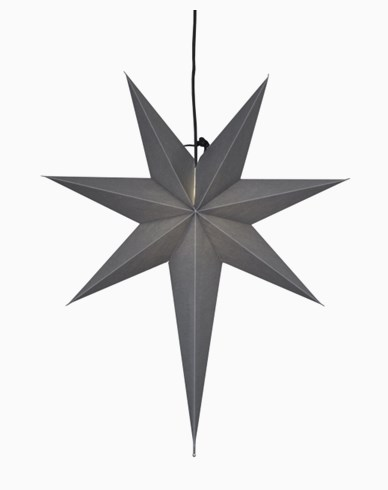 Star Trading OZEN stjärna, grå. E14 55x65cm