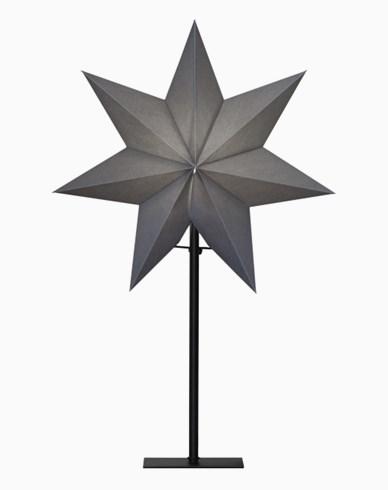 Star Trading OZEN stjärna på fot, grå. E14 34x55cm