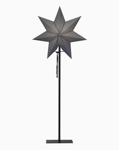Star Trading OZEN stjärna på fot, grå. E14 34x85cm