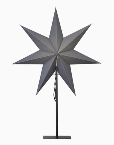 Star Trading OZEN stjerne, på fot, grå. E14 55x75cm