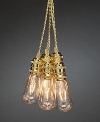 Konstsmide Slinga E27 8 Amberfärgade utbytbara LED 24V