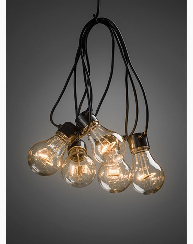 Konstsmide Ljusslinga LED E27 10 LED amber 24V/IP44. 2378-800