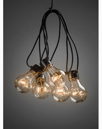 Konstsmide Lyslenke E27 10 LED-pærer amber 24V/IP44. 2378-800