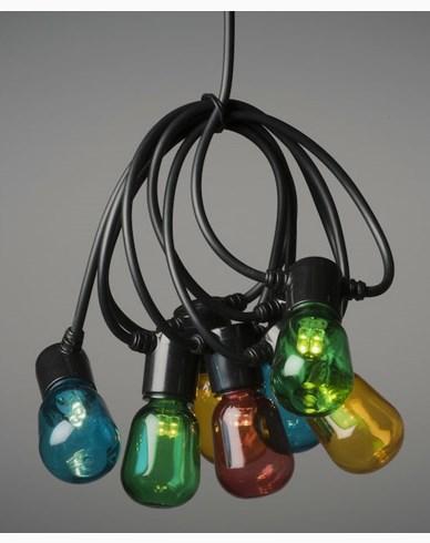 Konstsmide Ljusslinga E14 20 färgade LED,  6V/IP44