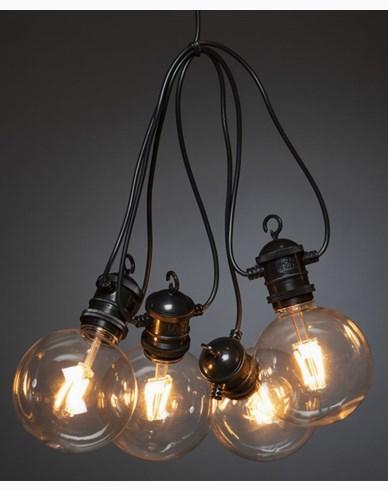 Konstsmide Slinga E27 10 amber utbytbar LED 24V