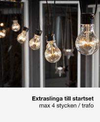 Konstsmide. Tillägg ljusslinga 10 LED-lampor Amber IP44. 2397-800
